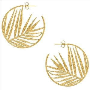 Gorjana palm profile gold tone hoop earrings